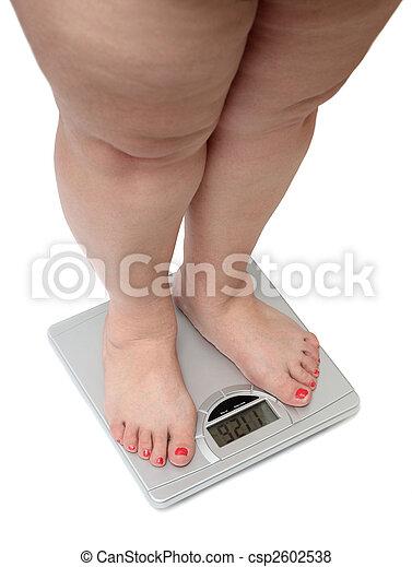 jambes, excès poids, femmes - csp2602538