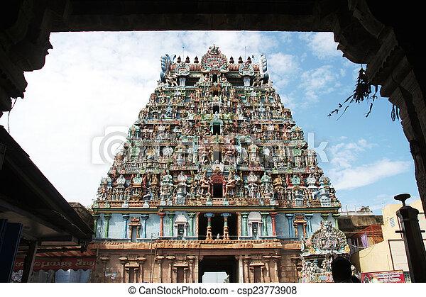 Jambukeshwara Temple Tower - csp23773908