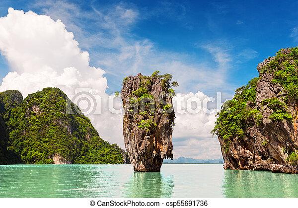 James Bond Island Near Phuket In Thailand
