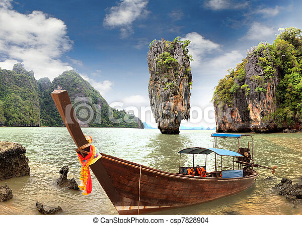 James Bond Island, Phang Nga, Thailand - csp7828904