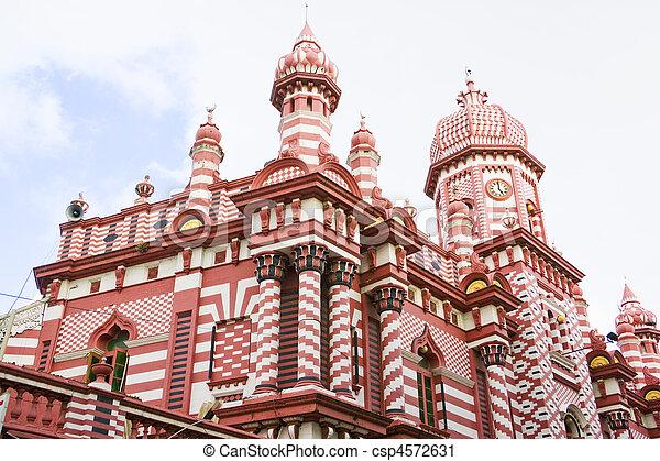 Jami-Ul-Alfar Mosque, Colombo, Sri Lanka - csp4572631