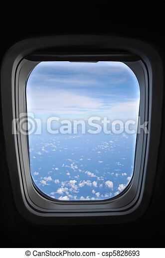 janela, avião - csp5828693