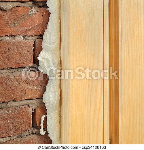 janela, porta, instalar, polyurethane, ou - csp34128163