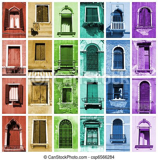 janelas, arco íris - csp6566284