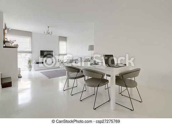 jantando quarto, vivendo - csp27275769