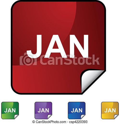januari - csp4220393