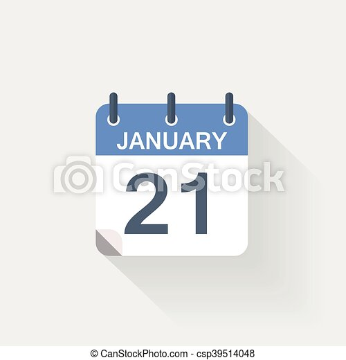 januari, kalender, 21, pictogram - csp39514048