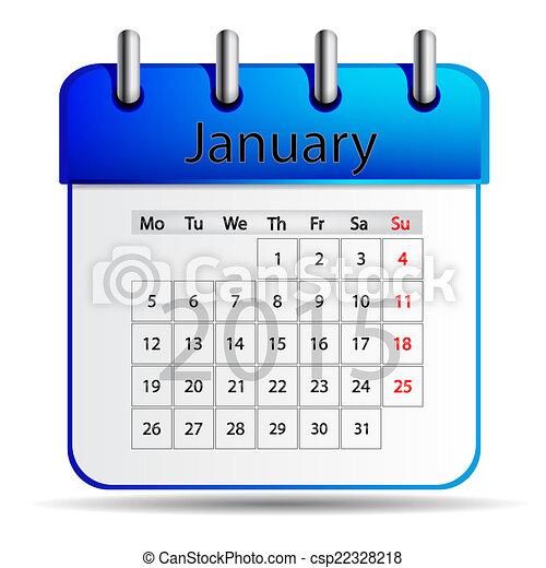januari, kalender - csp22328218