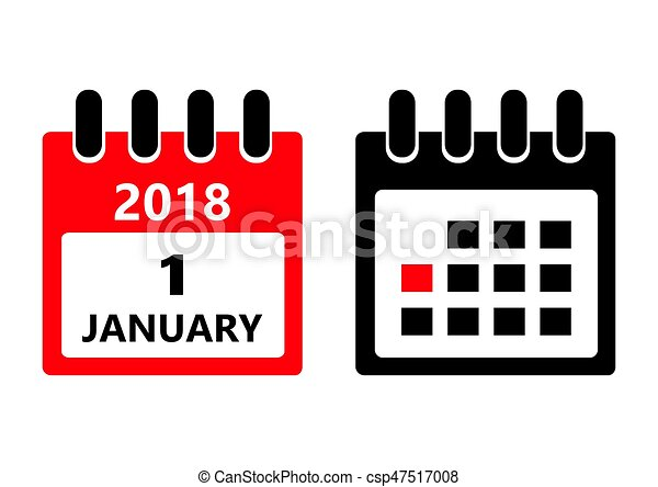 january 1 vector flat daily calendar icon date and time day