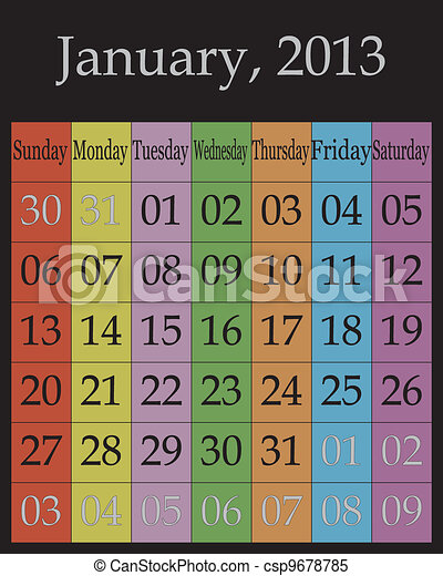 January, 2013 - csp9678785