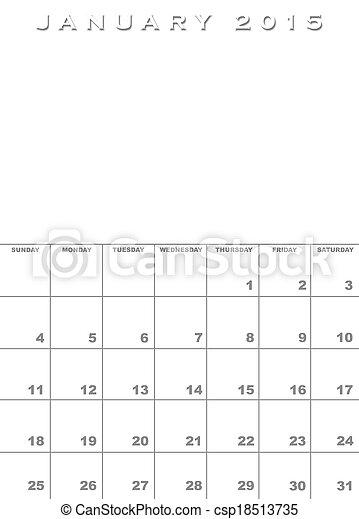 january 2015 calendar templates