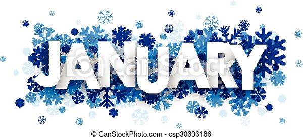 January sign. - csp30836186
