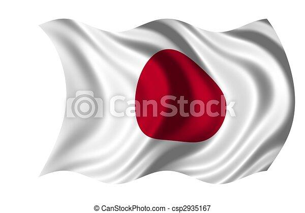 japán, nemzeti lobogó - csp2935167