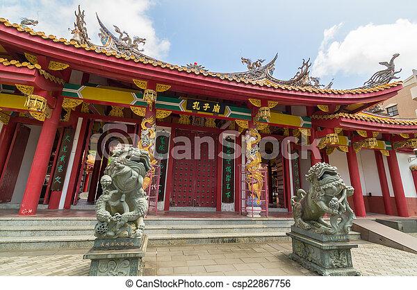 Templo Confucio en Nagasaki, Japón - csp22867756