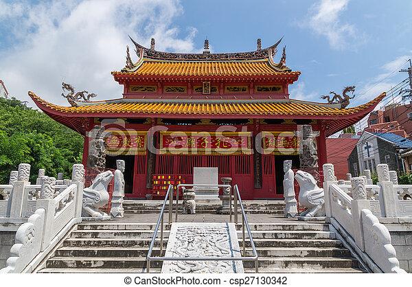 Templo Confucio en Nagasaki, Japón - csp27130342