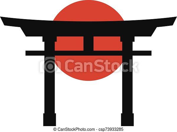 japón, icono, torii - csp73933285