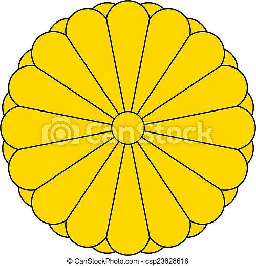 El sello imperial de Japón - csp23828616