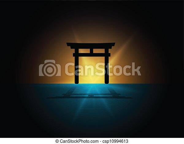 Puerta de torii de Japón - csp10994613