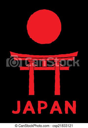 Puerta de Japón, puerta torii - csp21833121
