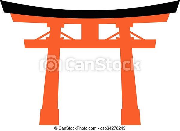 Japón torii - csp34278243
