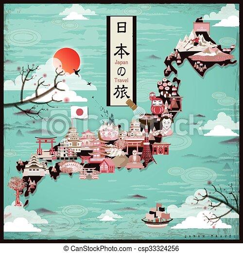 Diseño de mapas de Japón - csp33324256