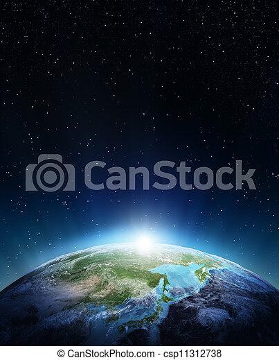 Japan and Siberia - csp11312738