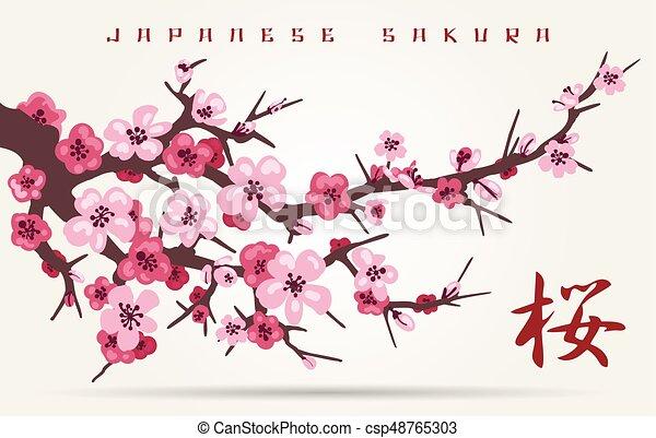 japan cherry blossom tree branch japan cherry blossom branching rh canstockphoto com Cherry Blossom Tree Cherry Blossom Tree