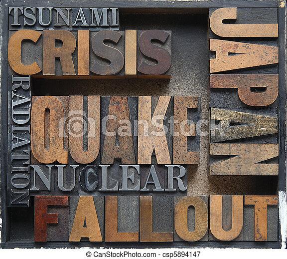 Japan disaster crisis words - csp5894147