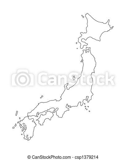 Drawing Of Japan Map Of Japan Csp Search Clip Art - Japan map drawing