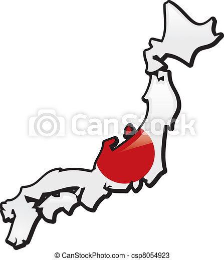 Vectors Of Japan An Artistic Rentering Of This Countrys Map And - Japan map vector art