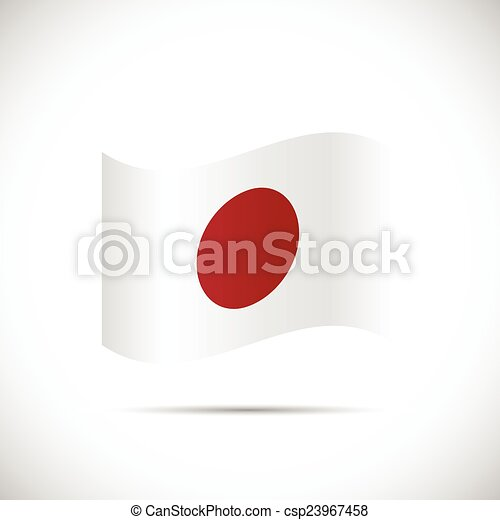 Japan Flag Illustration - csp23967458