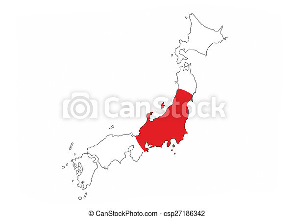 Japan Flag Map Japan Country Flag Map Shape National Symbol