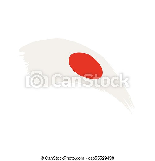 Japan Flag Vector Illustration On A White Background Vectors