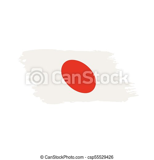 Japan Flag Vector Illustration On A White Background