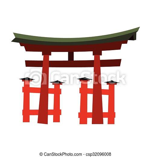 Japan Gate - Torii gate - csp32096008
