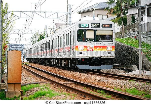 japan local train station - csp11636826