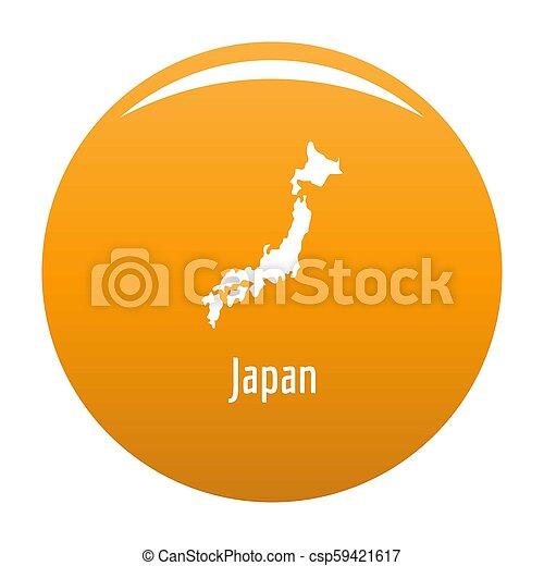 Japan map in black simple - csp59421617