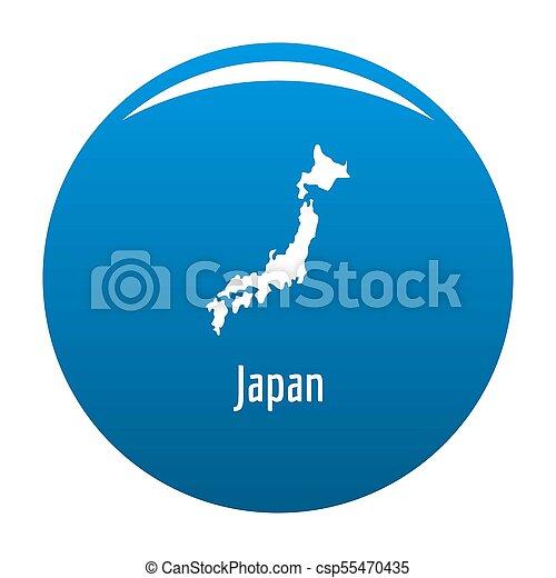 Japan map in black simple - csp55470435