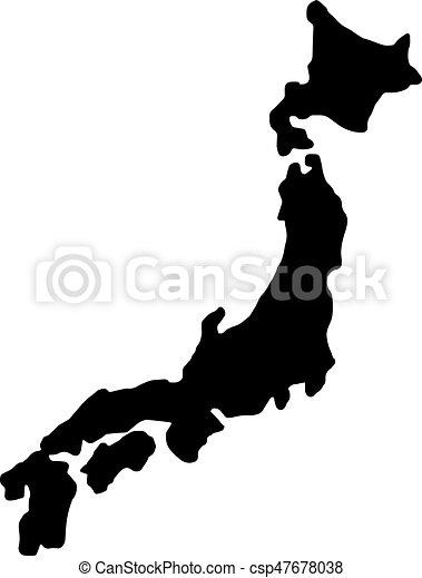 Vectors Of Japan Map Silhouette Vector Illustration Sketch Hand - Japan map silhouette