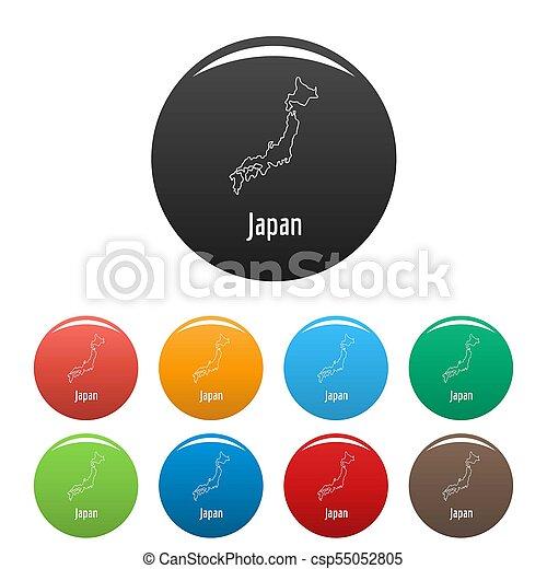 Japan map thin line simple - csp55052805