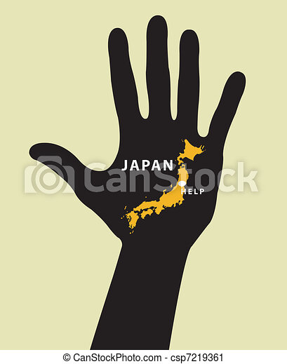 Japan Map With Seismic Epicenter. - csp7219361
