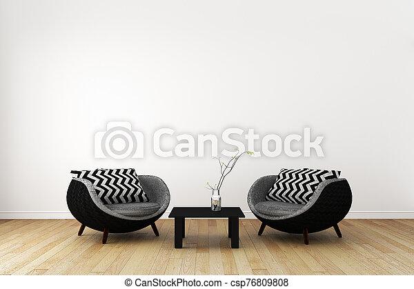Japan room interior - Japanese style. 3D rendering - csp76809808