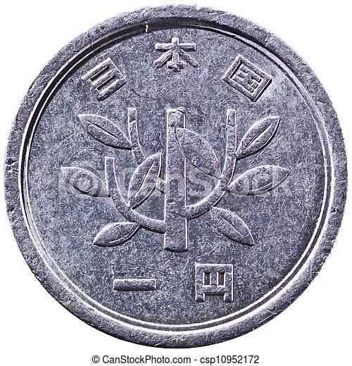 Japanese 1 Yen Silver Coin - csp10952172