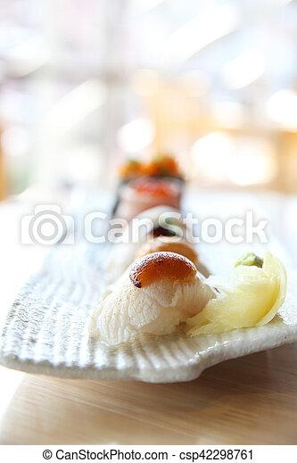 Japanese Amberjack Sushi Hamachi Sushi Japanese Food