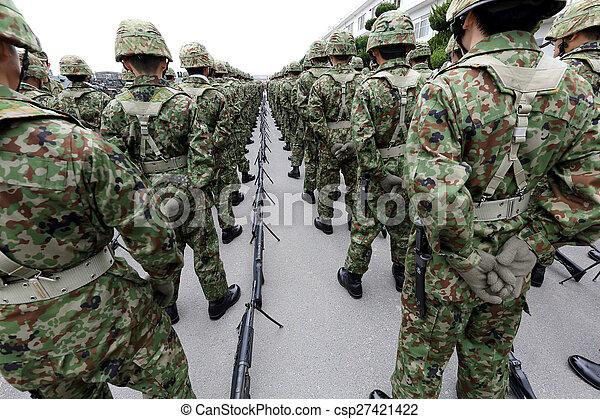 Japanese army parade - csp27421422