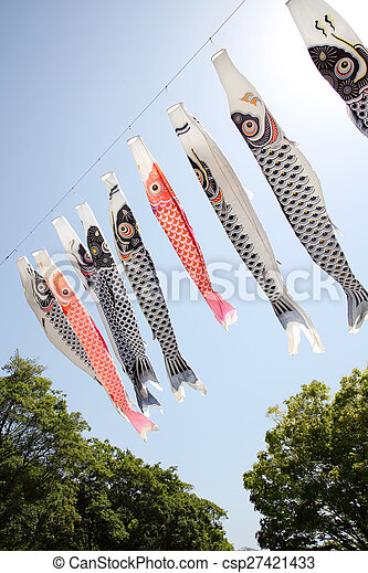 Japanese carp kite streamer - csp27421433