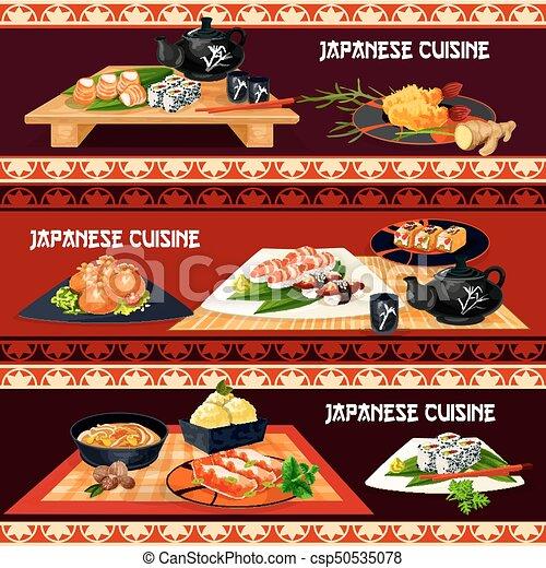 japanese cuisine banner for restaurant sushi bar japanese cuisine