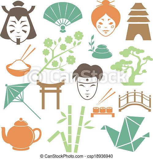 Japanese Culture Design Elements Collection Csp18936940