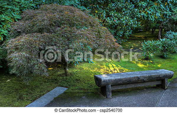 Japanese Garden Bench Hdr   Csp2540700
