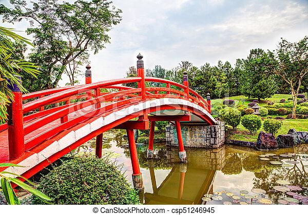 Japanese Garden Bridge in Singapore - csp51246945